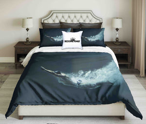 Professional Swimmer Under Water Design Bedding Set | beddingkings