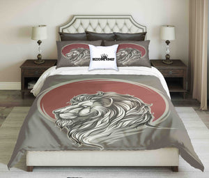 Lion In Red Circle Beddng Set | beddingkings