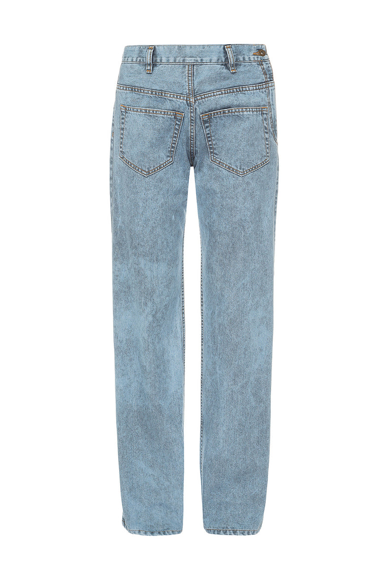 Oversized blue jeans