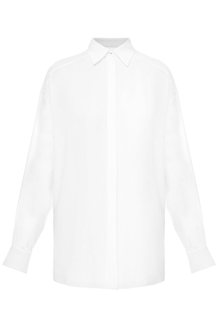 Translucent silk shirt
