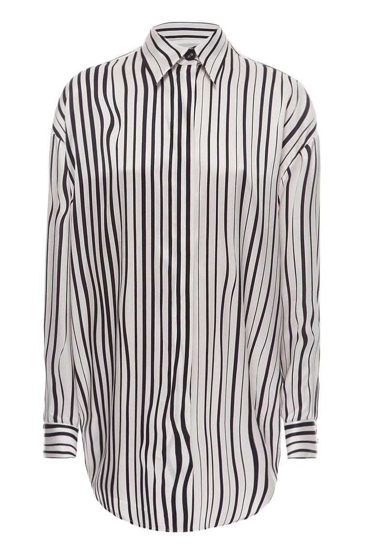 Silk striped shirt