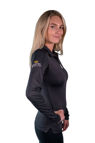 Kastel Charlotte Technical Long Sleeve - Black With Black Trim