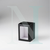Medium Flat Lid Danube Candle Box Black with Window