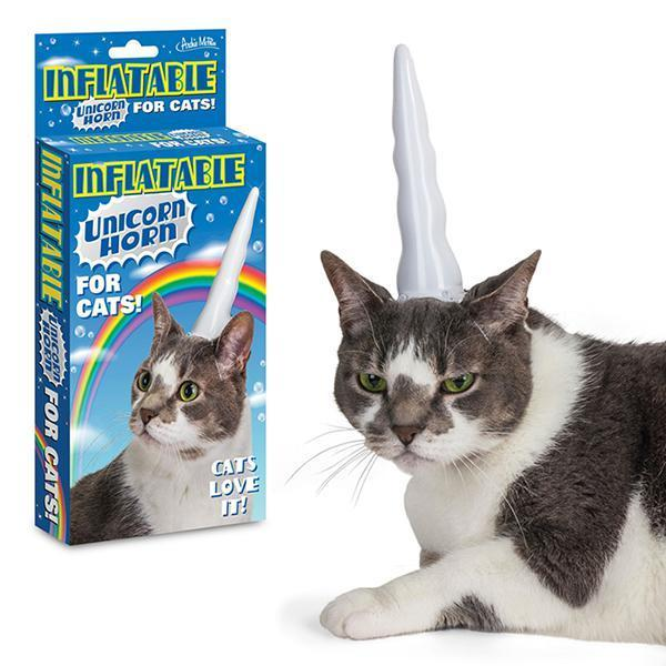 Unicorn Cat - Inflatable Horn