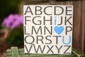 Alphabet Wood Sign