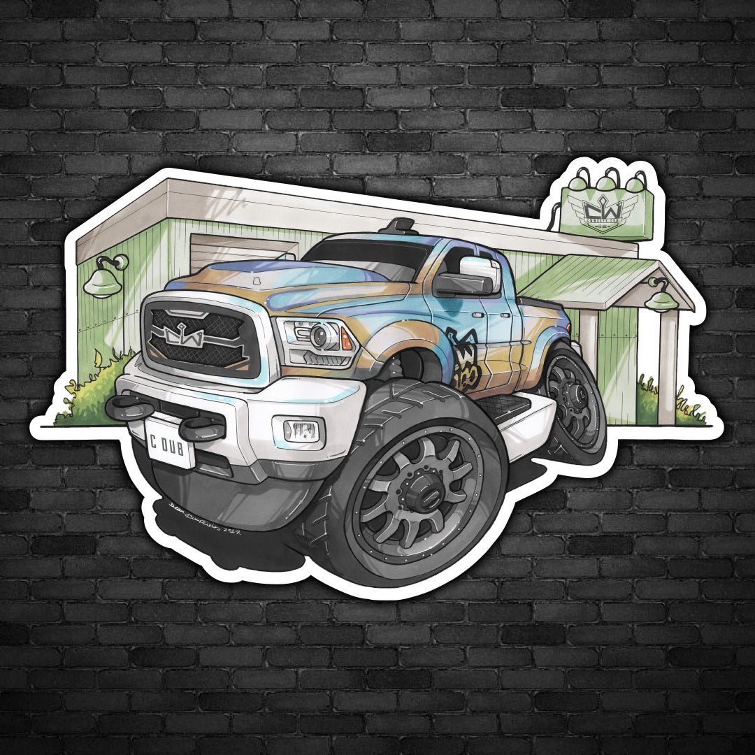 CW Truck Caricature Decal