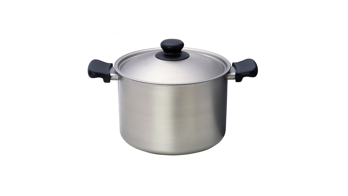 Sori Yanagi Stainless Deep Pot - Matte Finish - Made in Japan - Light and durable stainless steel pot - Dishwasher safe