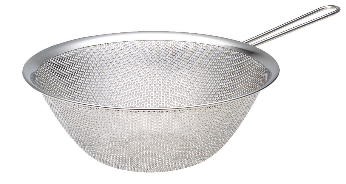 Sori Yanagi 18-8 Stainless Punched Strainer with Handle 9.05""