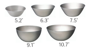 Sori Yanagi 18-8 Stainless Bowl 5pcs Set - Matte Finish - Rust Proof - Dishwasher Safe