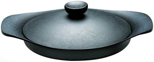Sori Yanagi Cast Iron Pan with Lid & Handle - Thick Nambu Tekki cast iron transfers and retains heat evenly - Made in Japan