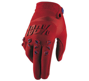 100% Men's Airmatic Gloves; Fire Red; M