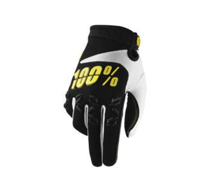 100% Men's Airmatic Gloves; Black/Yellow; S