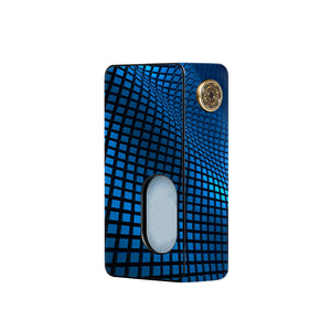 Blue Wavy Grid Dotmod Squonk Skins