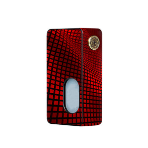 Red Wavy Grid Dotmod Squonk Skins
