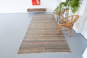 Old Anatolian Kilim 4.7ftx11ft