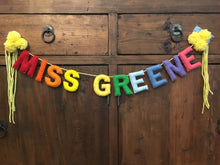 "3"" Custom Felt Stuffed Banner"