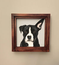 12 x 12 Custom Dog Portrait