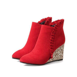 Valentina Ruffle Boots - Spirited Jungle