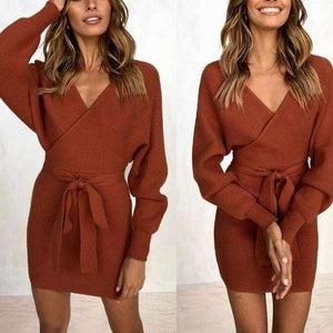 Velvet Crisp Knitted Mini Dress