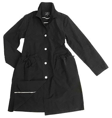 18107 Button Front Drawstring Pocket Trench