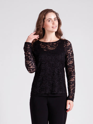 "3219 Lace Barely ""T"" Top"