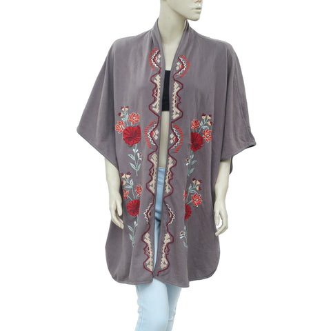 Soft Surroundings Embroidered Front Open Oversized Cardigan XL