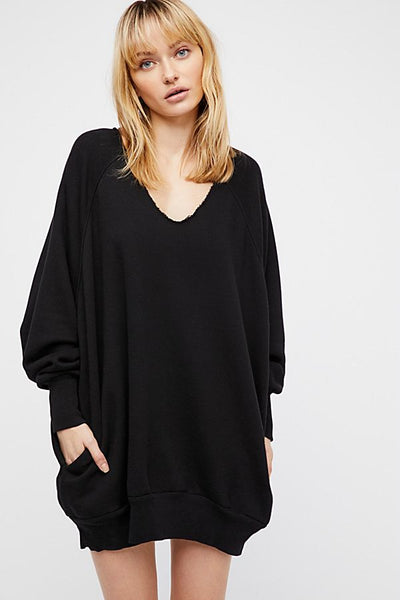 Intimately Free People Thumbs Up Pullover Oversized Top XS