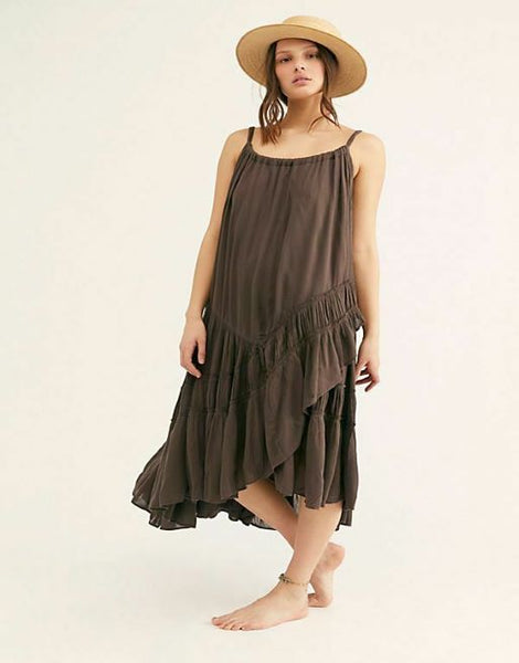 NWT Free People Bare it All Maxi Dress Tiered Ruffle Endless Summer XS