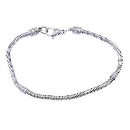 Stainless Steel 7.5 Inch  Screw End Lobster Clasp Bracelet