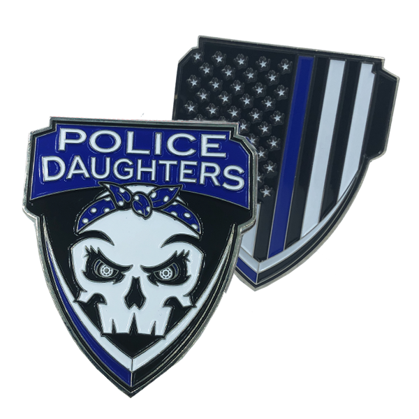 Police Daughters Thin Blue Line Challenge Coin Supporter