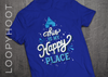Happy Place Castle Shirt in ROYAL BLUE
