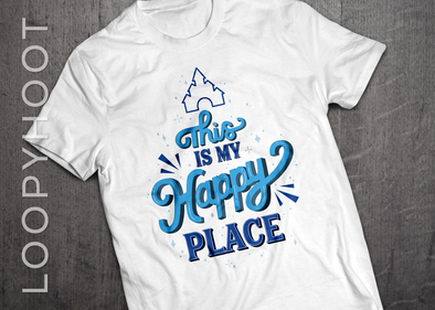 Happy Place Castle Shirt in WHITE