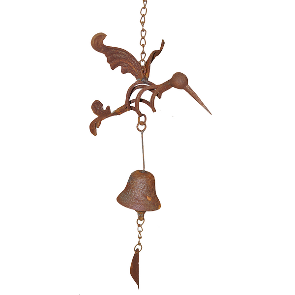 W3561Bell Hanging bell with hummingbird
