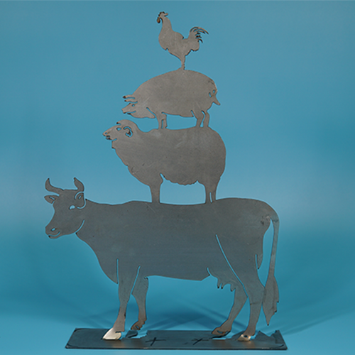 W4415 Farm Animals -  Rust & Raw Steel