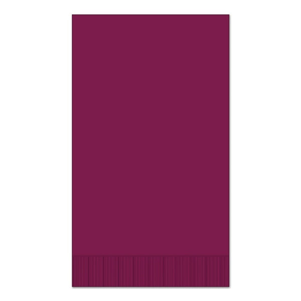 "Maroon 15"" x 17"" Dinner Napkins - Case of 1000"