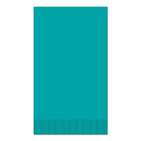"Teal 15"" x 17"" Dinner Napkins - Case of 1000"