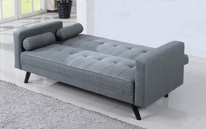 Fabric Sofa Bed with Arm Rest - Light Grey