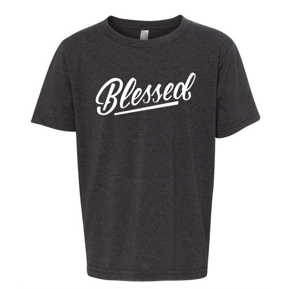 Blessed charcoal junior t-shirt