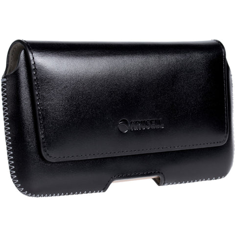Hector Plus Horizontal Belt loop case in Genuine Leather