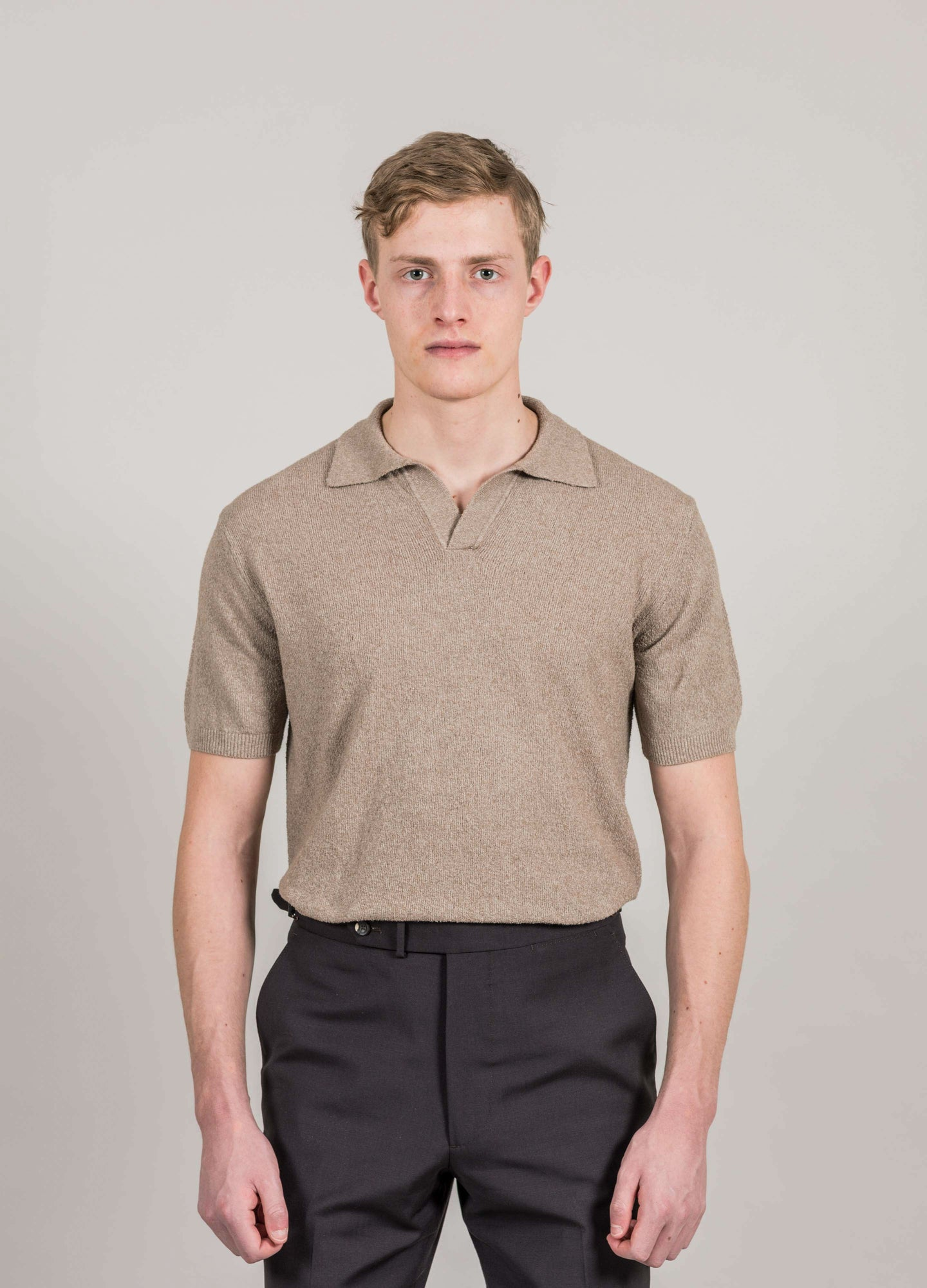 Terry Short Sleeve Polo Shirt