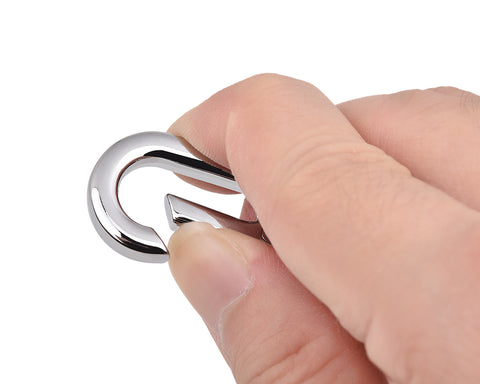 Stainless Steel Carabiner Clip Keyring Key Chain for Keys