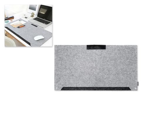 Multifunctional Felt Desk Mat Mouse Pad Table Organiser - Grey