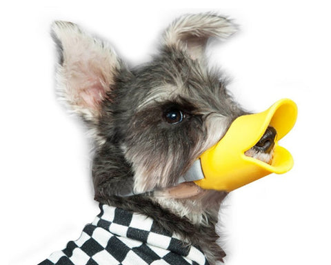 Dog Muzzle Duck Mouth Shaped Silicone Anti Bite Mask