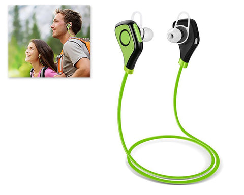 Wireless Bluetooth 4.0 Sport  Headset with Mic - Green