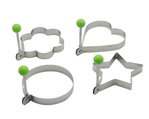 Stainless Steel Egg Rings 6 Pieces Egg Mold With Handle