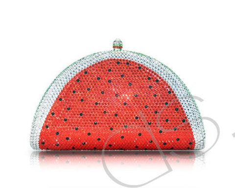 Watermelon Bling Swarovski Crystal Clutch Bag - 17.7cm