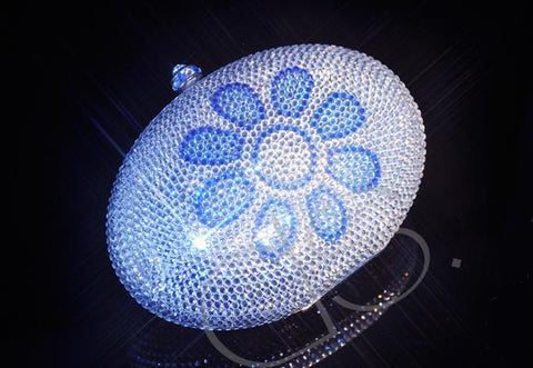 Sunflower Crystal Clutch Bag - 13.5cm
