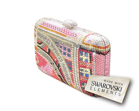 Pink Vision Handcraft Crystal Clutch Bag - 16.5cm