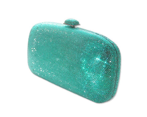 Purity Handcraft Crystal Clutch Bag - Green 18cm