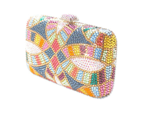 Mosaic Handcraft Crystal Clutch Bag - 14cm